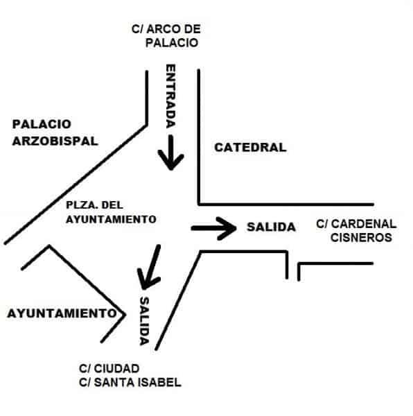 Medidas de tráfico y control de accesos para garantizar el buen desarrollo de los dos espectáculos de Luz Toledo