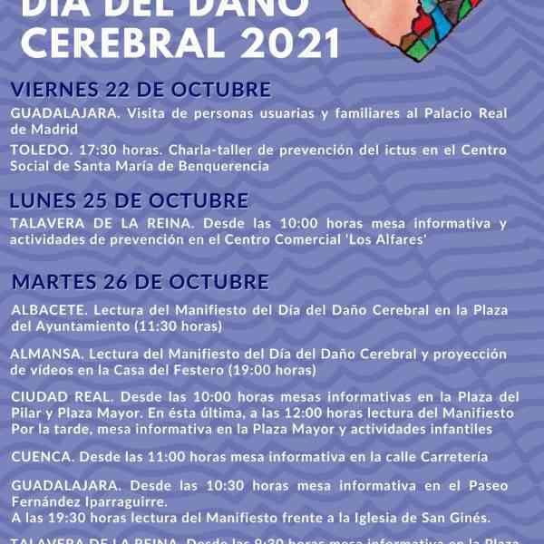 ADACE CLM volvió a conmemorar el Día del Daño Cerebral, con actividades presenciales y ciudades iluminadas de azul